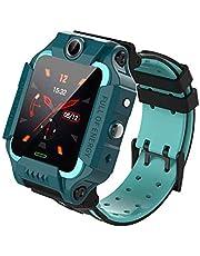 Smart klocka för barn, 4G barns mobila spel klockor, telefon WiFi/GPS/LBS Positionering/SOS, 360 ° Rotation, Inträde Födelsedag Graduation Celebration. (Color : Green)