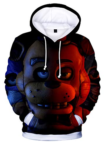 Yunbei Five Nights at Freddy's Hoodie Sweatshirt Unisex Costume (XS, Style2)]()