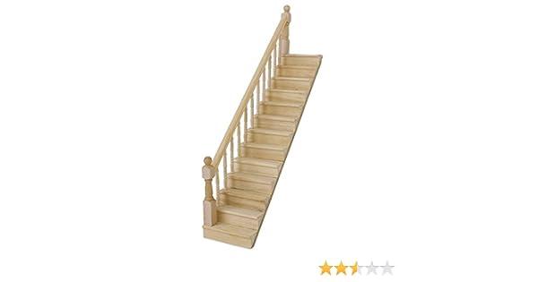WINOMO 112 biberón Casa de muñecas de madera en miniatura Escalera con barandilla derecha: Amazon.es: Bricolaje y herramientas