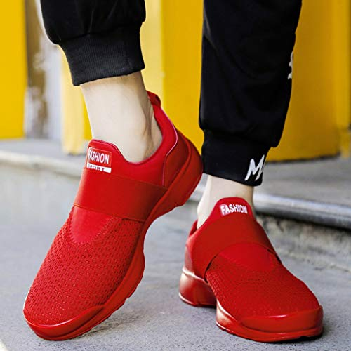 Sports Loisirs Maille Fitness A En Rouge Course De Respirante Gym Sneakers Mode Basket Sauvage Chaussures Outdoor Hommes Femme Electri Athlétique aPwfq0Yxp