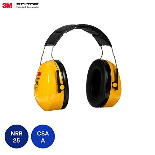 3M Peltor Optime 98 Over the Head Earmuff, Hearing Protection, Ear Protectors, NRR 26 dB, Ideal for heavy equipment operations from 3M