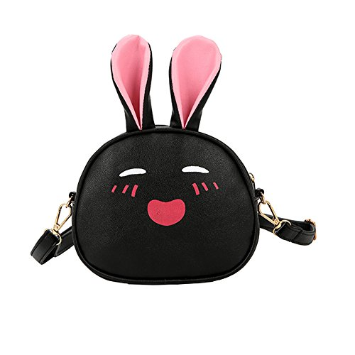 Plus Leather Cartoon Backpack 12cm Black yo Mini Backpack Shape Cellphone Vi Size PU 8 X Wallet Small iPhone 29 with Red Rabbit Purse Travel for 21 pHc4g6qt