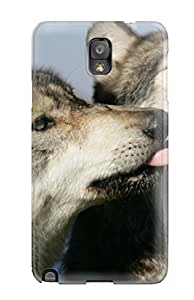 Awesome Wolf Animal Wolf Flip Case With Fashion Design For Galaxy Note 3