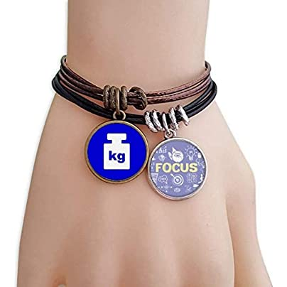 Weight Blue Square Warning Mark Bracelet Rope Wristband Force Handcrafted Jewelry Estimated Price £9.99 -