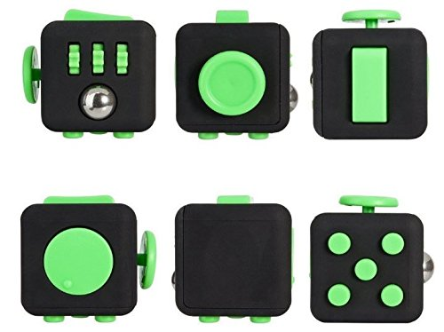 Fidget Toys Set – Helps Adults and Children with Anxiety, Autism, ADHD, Stress Relief & Concentration- Includes Fidget Cube, 12 Sided Cube, and Fidget Spinner - 5