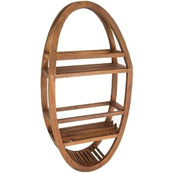 Amazon.com: Patented Moa Oval Teak Shower Organizer: Home & Kitchen