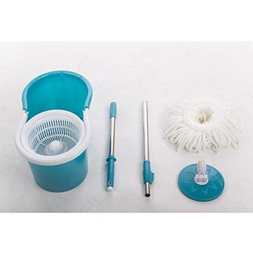 PayLessHere Microfiber Spinning Mop Easy Magic Mop W/Bucket 2 Heads 360 Rotating Floor Mop