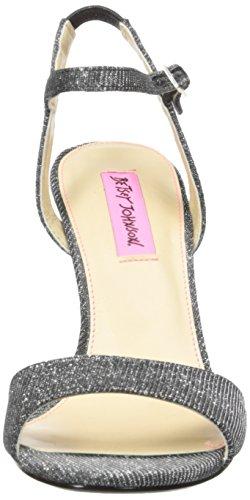 Betsey Johnson Sandale Compensée Duane Femme Noire