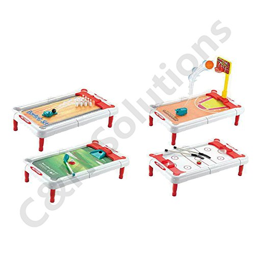 C&H Solutions 4 in 1 Tabletop Sports Game (Multicolor)