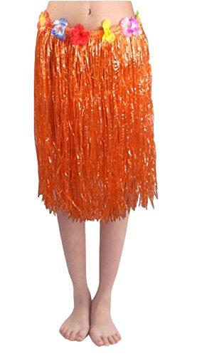 [Adult Summer Elastic Hawaiian Hula Dancer Grass Skirt] (Hawaiian Hula Outfits)