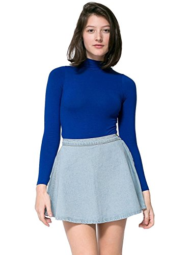 American Apparel Denim Circle Skirt - Medium Stone Wash Indigo / S