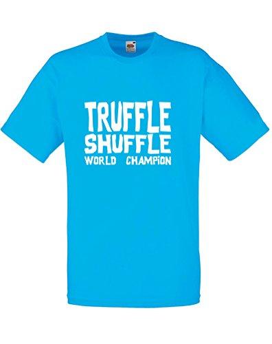 (Truffle Shuffle, Mens Printed T-Shirt - Azure/White S)