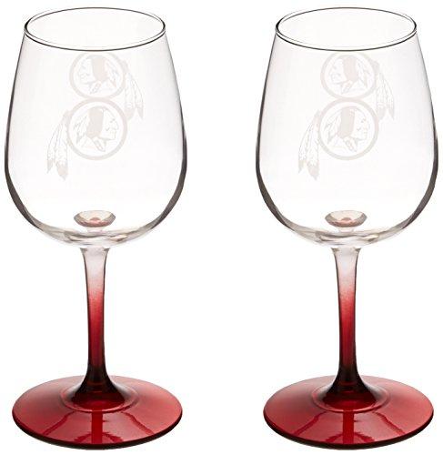 NFL Washington Redskins Wine Glass, 12-ounce, 2-Pack