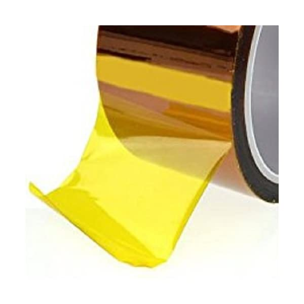 Vertex 3D Print Kapton Polyimide Adhesive Tape for 3D Printer and Reprap Batteries Applications -50 mm