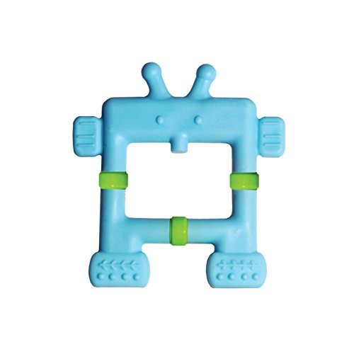 Innobaby Original Teethin Smart EZ Grip Robot Teether and Sensory Toy for Babies and Toddlers. BPA Free Teether,Blue