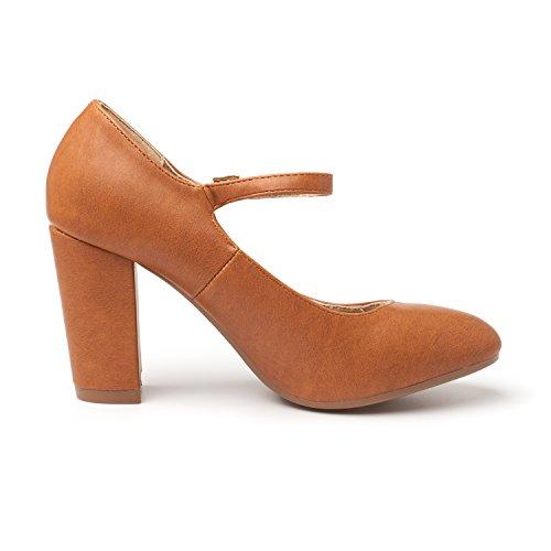 New PAIRS Elegant Classic Shoes Platform Tan Heels Versatile Gloria DREAM Pu Pumps Womens Dress Stiletto qtZfR