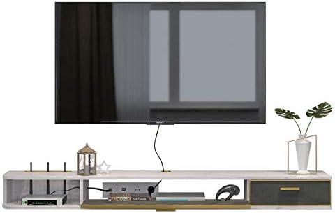 SXFYZCY Minimalista Moderno TV montado en la Pared Mueble TV de Pared Bastidor Colgante Dormitorio Sala de Estar Simple Blanco 1400MM * 236MM * 160MM: Amazon.es: Hogar