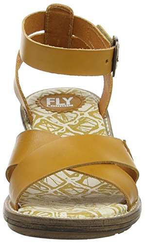 Fly London Womens Cera634fly Klänning Sandal Senap Vege Färgade