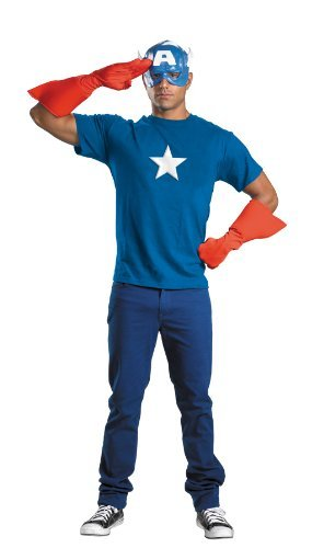 Captain America Kit Adult by Halloween -