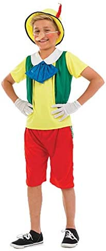 Boys Real Boy Wooden Puppet Costume Kids Fairytale Book Week Outfit - X-Large