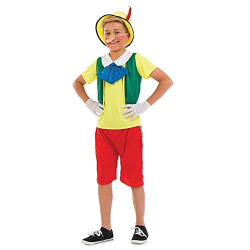Boys Real Boy Magic Wooden Puppet Costume Kids Fairytale Outfit - Medium