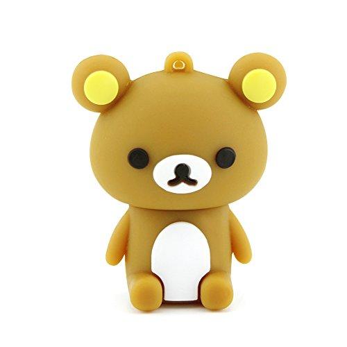 16GB USB 2.0 Flash Drive Cartoon Novelty Animal Cute Sitting Bear Shape Pen Drive Memory Stick Thumb Drive Pendrive