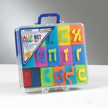 YourHolyLandStore Hebrew Alphabet Stamp Set - Alef Bet Letters