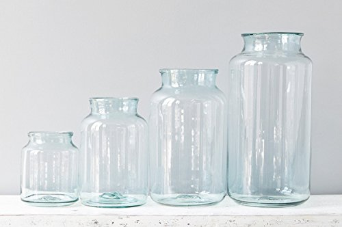 Recycled Glass Mason Jar Flower Vase, 5 Liter (Recycled Glass Jar)