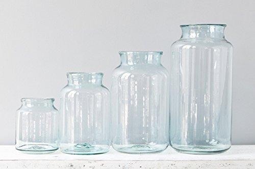 Recycled Glass Mason Jar Flower Vase, 5 Liter (Glass Recycled Jar)