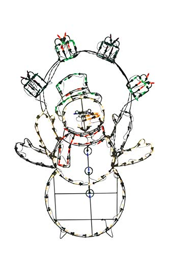 "Northlight 42"" Pre-Lit Multi-Color LED Animotion Snowman Gif"