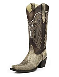 Stetson Western Boot Womens Marble Snip Tan 12-021-6105-0676 BR