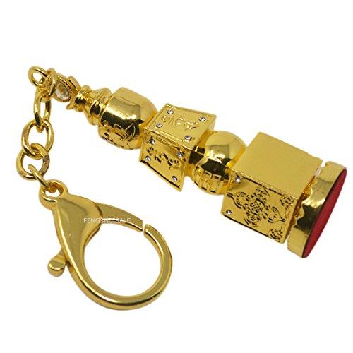 (fengshuisale Fengshui Bejeweled 5 Element Pagoda Keychain Big Size W Free Red String Bracelet W3333 )