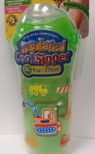 Nuby No Spill Insulated Sipper Green