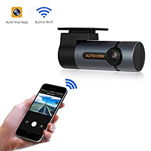 AUTO-VOX Dash Cam WiFi Car Camera 1080P with 300° Rotate Angle, Dashboard Camera with Super Night Vision, G-Sensor, WDR, Loop Recording