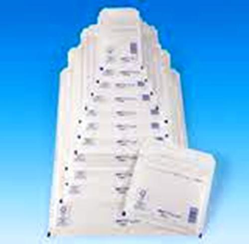 PACK OF 50 ASSORTED WHITE PADDED ENVELOPES 10 OF EACH SIZE 1, 2, 3, 4 & 5 arofol