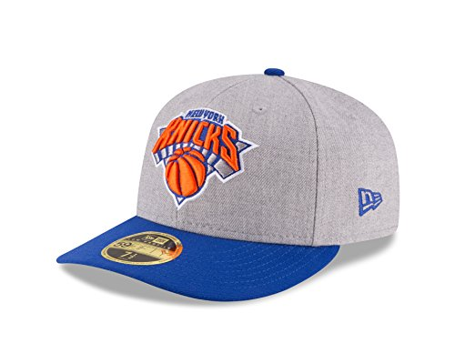 NBA New York Knicks Men's Low Profile 59FIFTY Fitted Cap, 8, Heather Gray