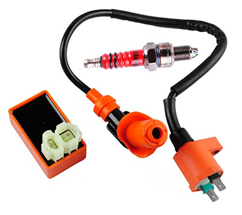 Podoy GY6 CDI Ignition Coil Racing Spark Plug for 50cc 125cc 150cc Scooter Performance Parts