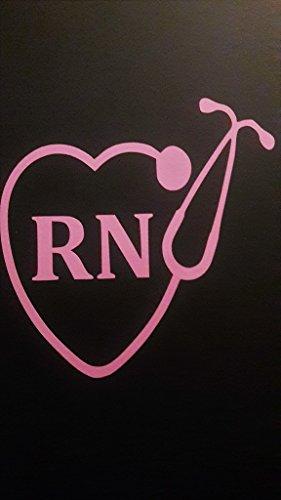 Nurse Nursing RN LPN Stethoscope Vinyl Decal Sticker|PINK|Ca