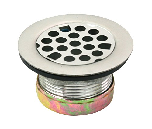 Everflow 7571 Flat Stainless Steel  RV Mobile Shower Strainer - Drain Assembly for Bar or Bathroom Sinks