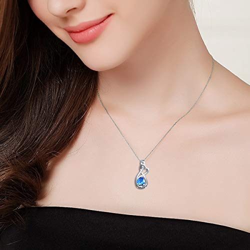 YinShan I Love You Forever Heart Necklace Jewelry Sterling Silver Pendant by YinShan (Image #1)