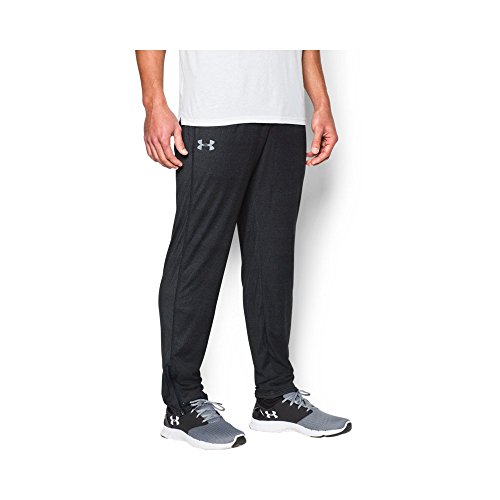 Under Armour Men's Tech Pants ,Black/Steel, Medium