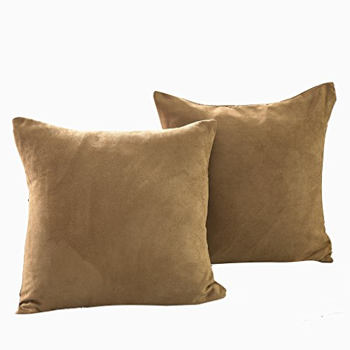 Best Dreamcity Set of 2 Faux Suede Cushion Covers / Pillowca