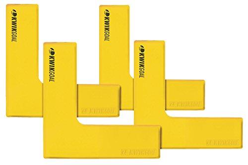 Kwik Goal Flat Corner Marker (Pack of 4), Yellow