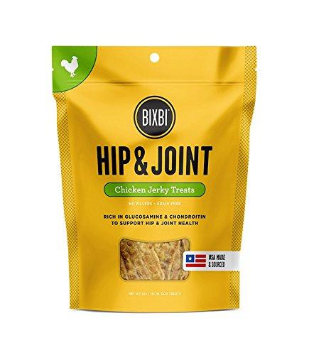 BIXBI Hip & Joint Dog Jerky Treats, Chicken, 5 Ounce America Glucosamine