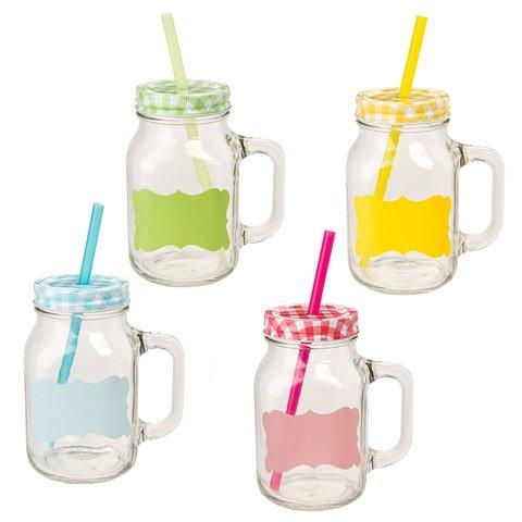 Better Crafts 22OZ GLASS MASON JAR MUG X4 AST. WLID (24 pack) (05200-850) by Better crafts
