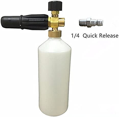Alto Nilfisk Bosch and Kranzle Lavor 1//4 Quick Release Genuine Brass Fittings Saverschoice UK Premium Snow Foam Lance With Huge Choice Pressure Wash Fittings Including Karcher Kew