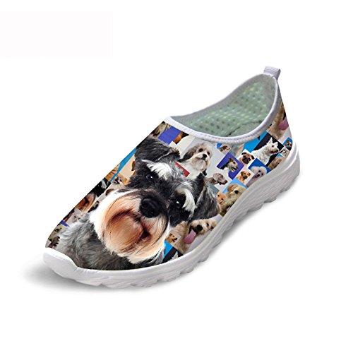 小道具オーバードローセットアップThiKin スポーツシューズ レディース メッシュ シューズ 通気 軽量 犬 柄 トラベル ランニングシューズ 3Dプリント クッション性 カジュアル 靴 おしゃれ ファッション 通勤 通学 プレゼント