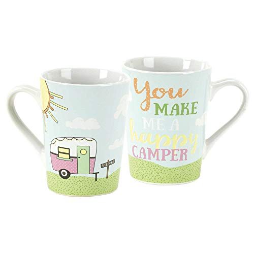 - Welcome Happy Camper White 11 Ounce Ceramic Stoneware Coffee Mug