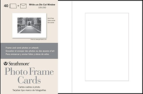 Christmas Cards Picture Insert (Strathmore Cards & Envelopes, White - Cutout Window - 40)