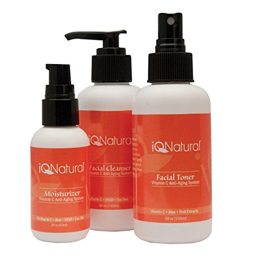IQ Natural: ''Youthful'' 3pc Daily Professional Pro Anti-Aging System with Active Green tea Extract Full size